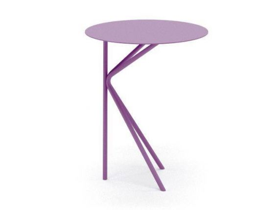 Table basse rond en métal Twin