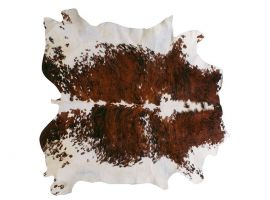 Tricolor natural leather carpet