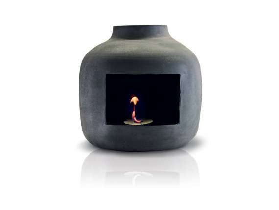 Apple wall fireplace in ceramic