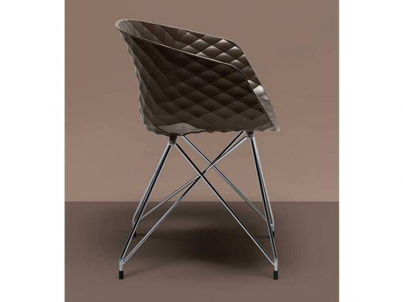 Uni-Ka 596 armchair with lattice structure in steel