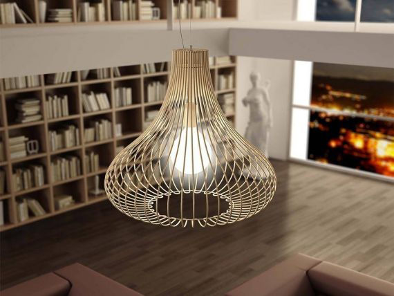 Ceiling lamp with threadlike structure Titti Onion