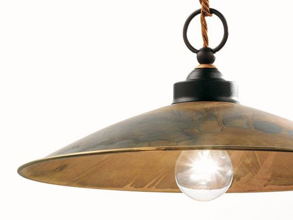 Hanging lamp in brass Rua