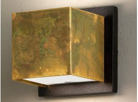 Applique lamp in oxidized brass with plate Lola Quadra B