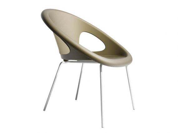 Drop 4 legs armchair with lacquered frame