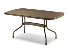 Olimpo outdoor rectangular little table 160x90 in polypropylene