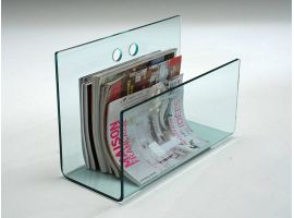 Magazine rack in curved glass Newsweek