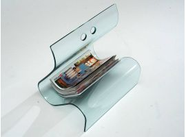 Magazine rack in curved glass Times