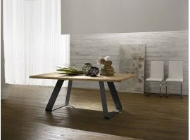 Solid Legno wood and metal table