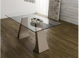 Skip Vetro metal and glass table