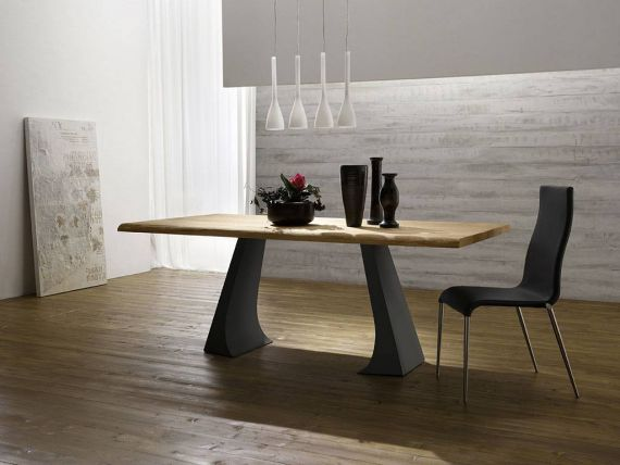 Skip Legno wood and metal table