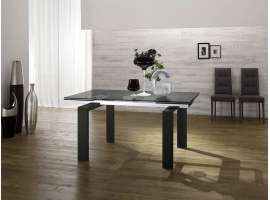 Glaze bois table extensible