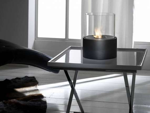 Arches table fireplace