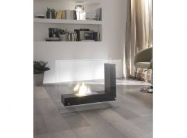 Smoky floor fireplace