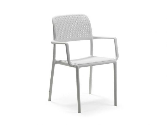 Bora Armchair with arms in polypropylene