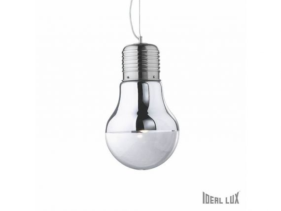 Luce Cromo SP1 big hanging lamp with diffusor in glass