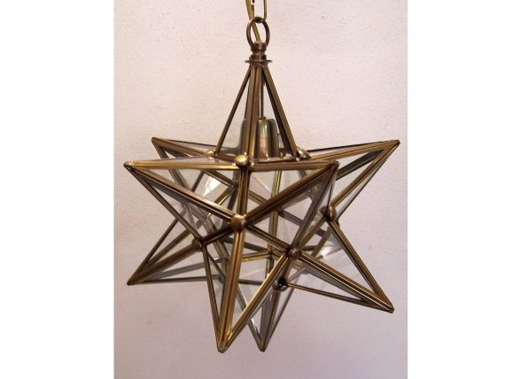 Stella hanging lamp in brass