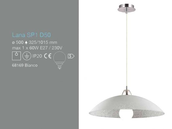 Lana SP1 hanging lamp in glass