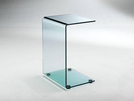 Curved crystal small table Calamita
