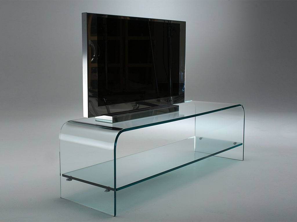 tango meuble tv en verre courb. Black Bedroom Furniture Sets. Home Design Ideas