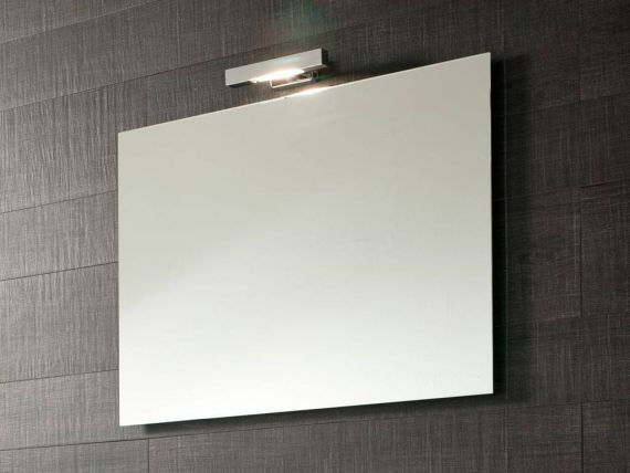Mirror and lamp Linea 024