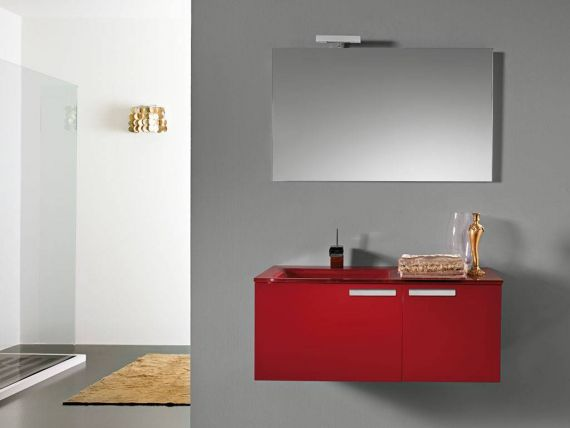 Mirror and lamp Linea 020
