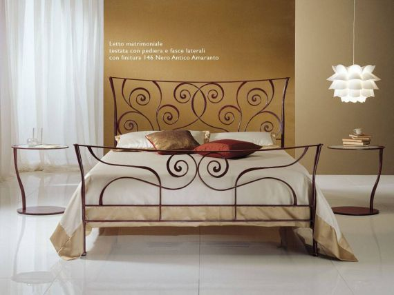 Wrought iron bed Klimt