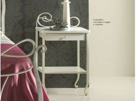Wrought iron bedside table Faure'