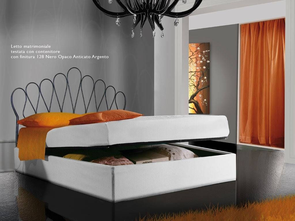 lit en fer forg newton. Black Bedroom Furniture Sets. Home Design Ideas