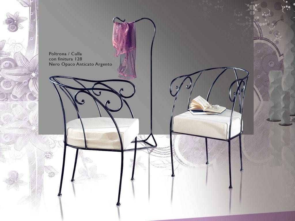Collodi Wrought Iron Armchair Cradle