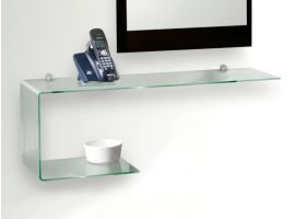 Flexi shaped glass shelf