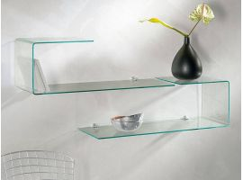 Shaped glass shelf Flexi
