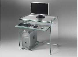 Clear crystal desk