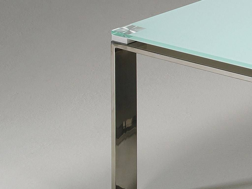 Table basse de salon en verre stain for Tables basses de salon en verre