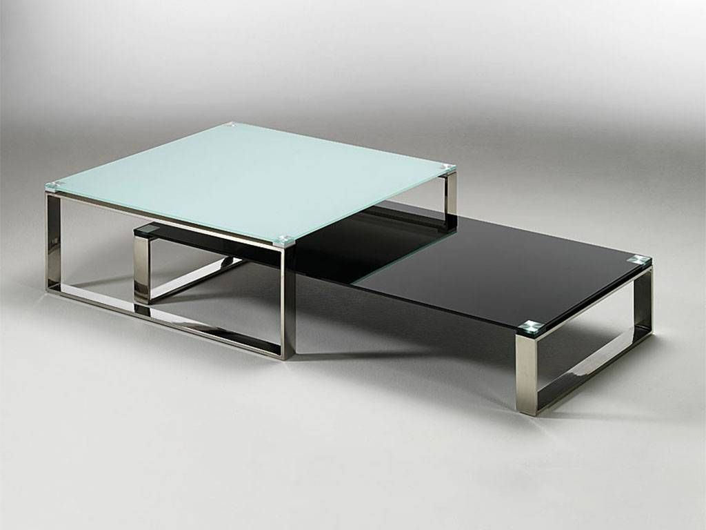 Table basse de salon en verre stain - Table basse de salon ...