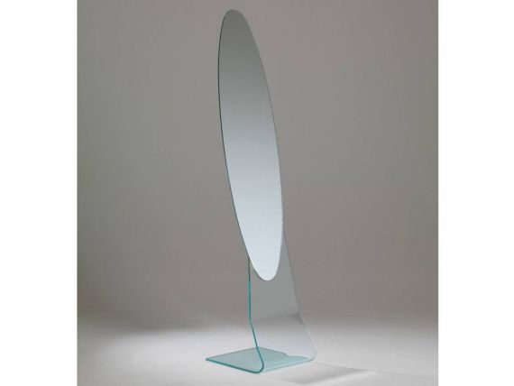 Curved glass mirror Luna