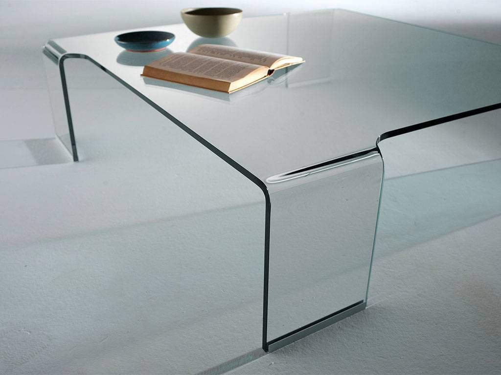 Curved glass small table box Glass box coffee table