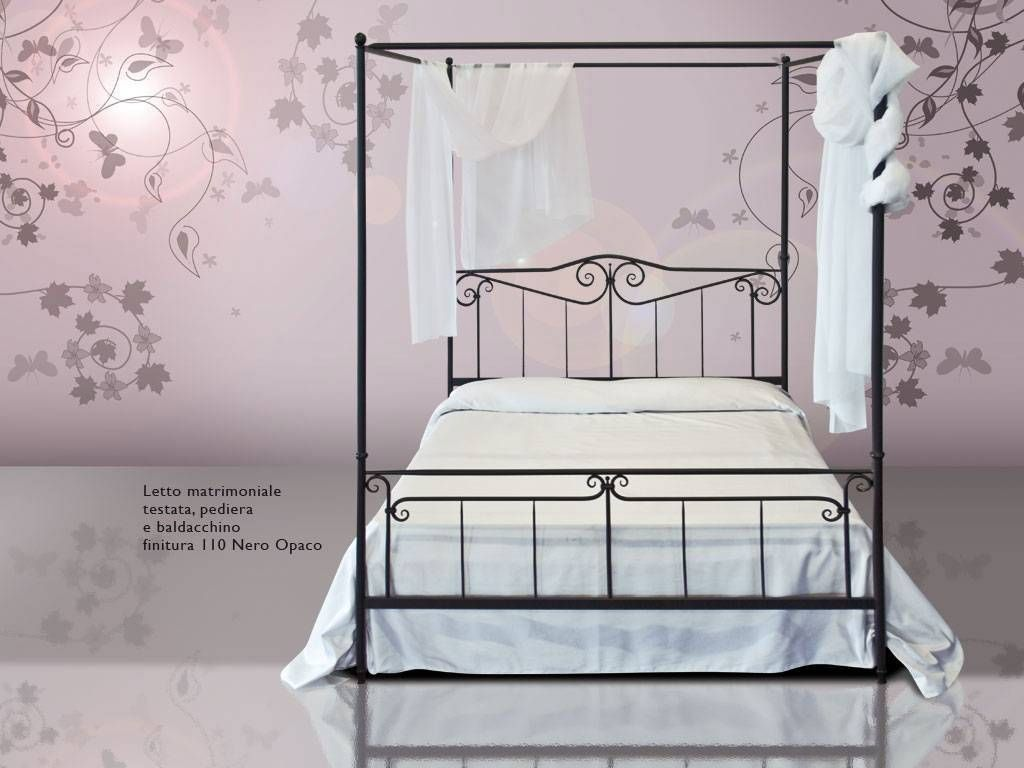 lit en fer forg baldaquin casanova. Black Bedroom Furniture Sets. Home Design Ideas