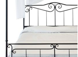 Wrought-iron poster bed Casanova