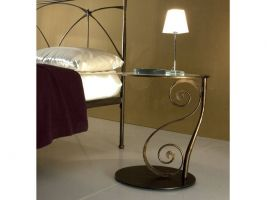 Wrought iron bedside table Galle' 2
