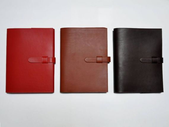 Document holder in real Italian leather