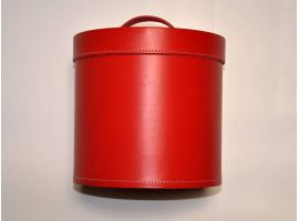 Hatbox in real Italian leather