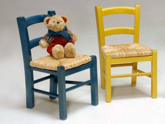 Baby children's wooden chair