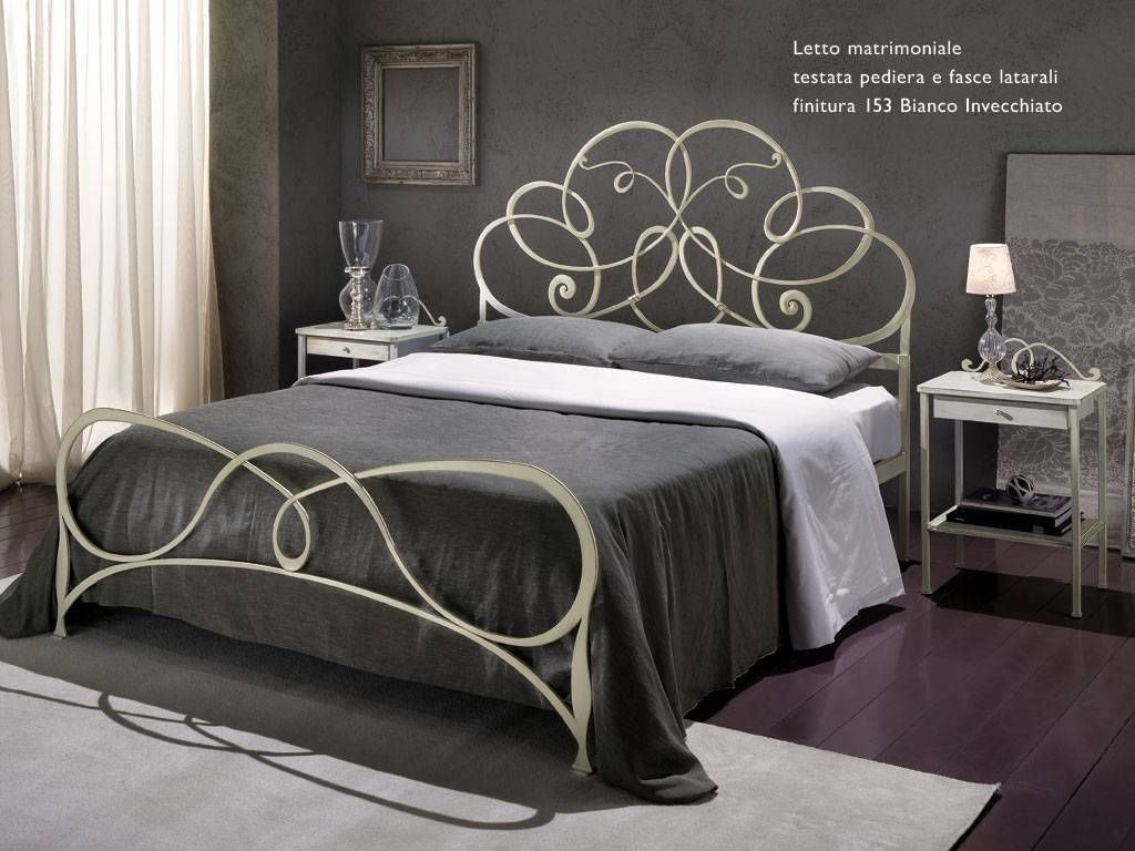 Wrought iron bed bradley for Arredamento ferro battuto