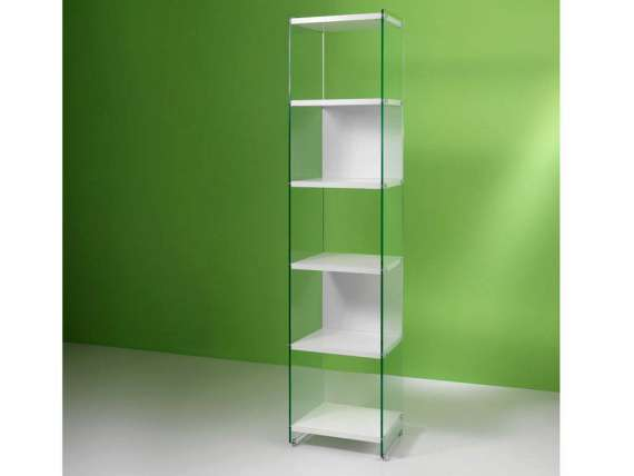 Byblos Glass Bookcase of 45 cm