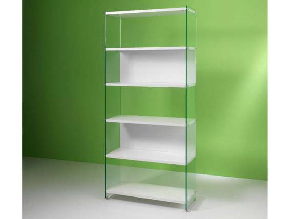 Byblos Glass bookcase of 90 cm