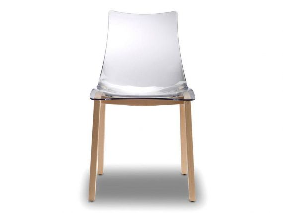 Chair with transparent seat Natural Zebra antishock