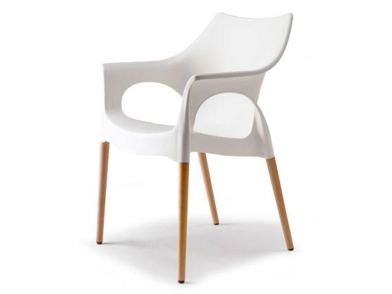 Polypropylene chair Natural Ola