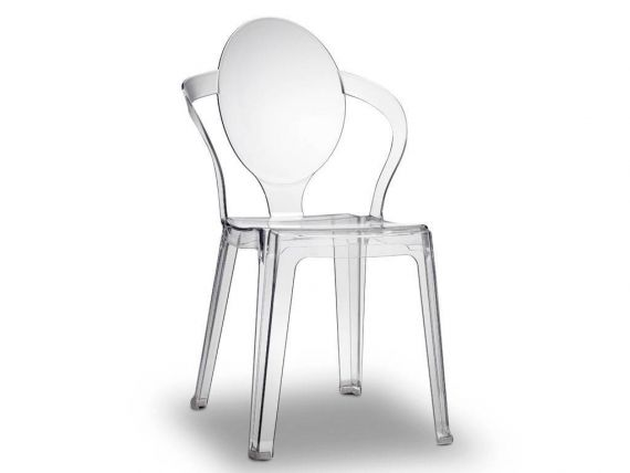 Chaise en polycarbonate Spoon