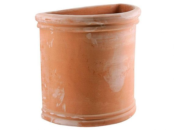 Semicircular smooth high tuscan 056 terracotta pot