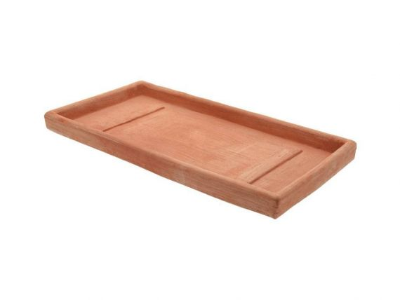 Rectangular flowerpot holder 075 terracotta flowerpot holder